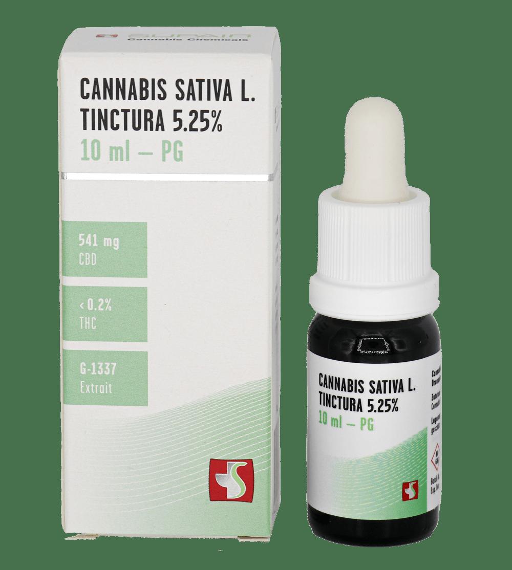 MEDROPHARM Cannabis sativa L. tinctura 5.35 % CBD D2 M-1337 huile vial 10 ml