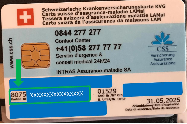 Carte assurance covid exemple site